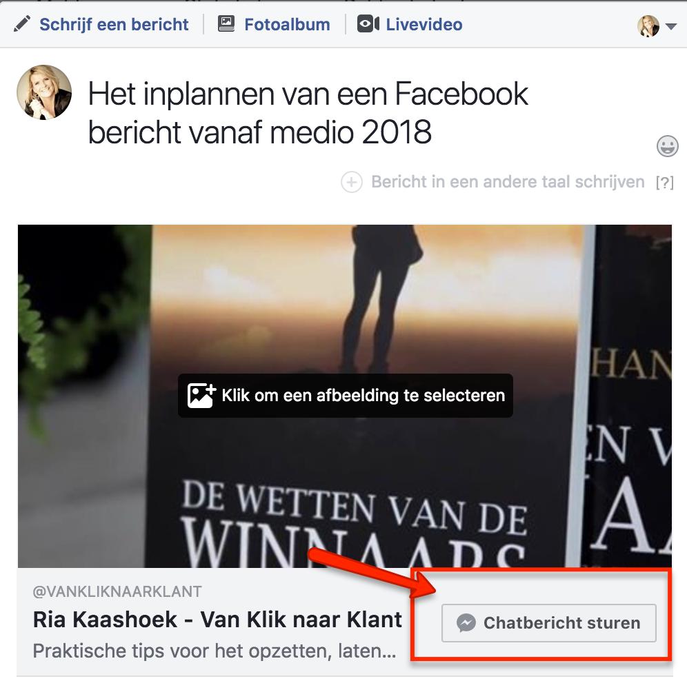 Facebook bericht inplannen 6